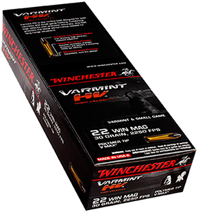 WIN VARMINT HV 22WMR 30GR V-MAX 50/ - for sale