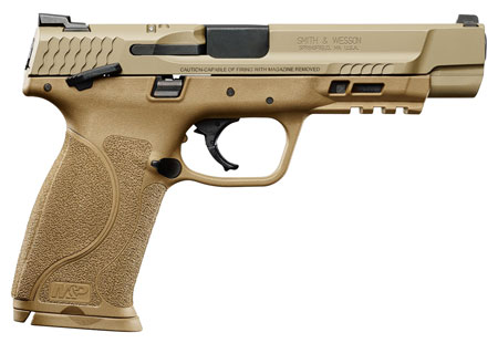 "S&W M&P 2.0 9MM 5"" 17RD FDE NMS TS - for sale"