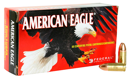 FED AM EAGLE 9MM 124GR FMJ 50/1000 - for sale