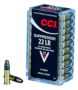 CCI 22LR SUPPRESSOR 45GR HP 50/5000 - for sale