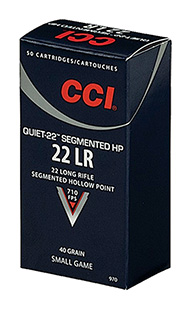 CCI QUIET SEGMENTED 22LR 40GR HP 50/ - for sale