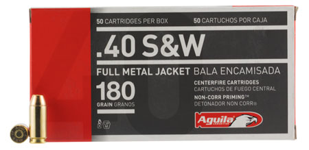 AGUILA 40SW 180GR FMJ 50/1000 - for sale