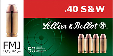 S&B 40SW 180GR FMJ 50/1000 - for sale