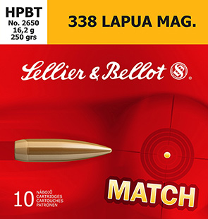 S&B 338LAPUA 250GR SIERRA HPBT 10/BX - for sale