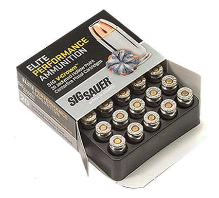 SIG AMMO 9MM 147GR JHP 20/200 - for sale