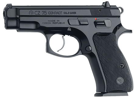 "CZ 75 COMPACT 9MM 3.7"" BLK 10RD - for sale"