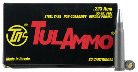 TULA 223REM 55GR FMJ NC 20/1000 - for sale