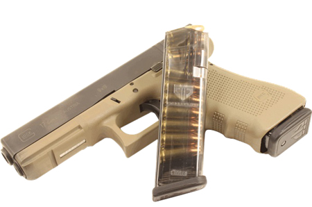 ETS MAG FOR GLK 9MM 17RD SMOKE - for sale