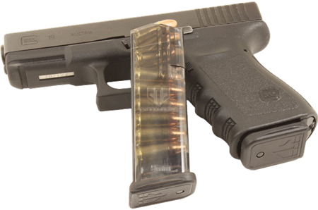 ETS MAG FOR GLK 9MM 15RD SMOKE - for sale