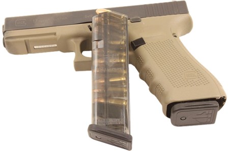 ETS MAG FOR GLK 17 9MM 10RD SMOKE - for sale