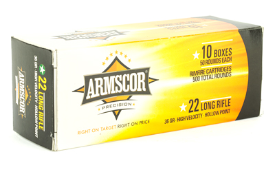 ARMSCOR 22LR HVHP 36GR 500/5000 - for sale