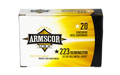 ARMSCOR 223REM 62GR FMJ 20/1000 - for sale