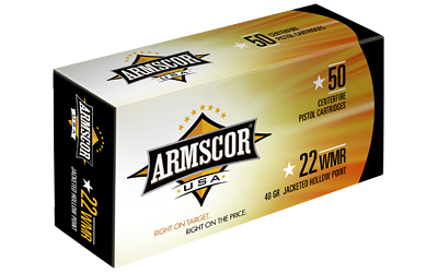 ARMSCOR 22WMR 40GR JHP 50/5000 - for sale