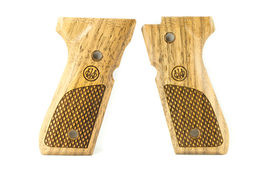 BERETTA GRIPS 92 96 WOOD OVAL CHKRNG - for sale