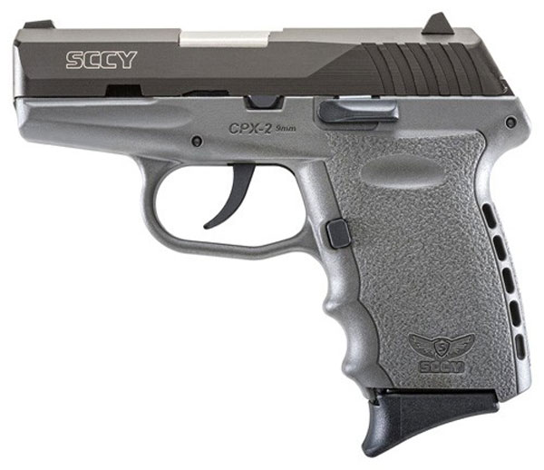 SCCY 9MM POLY GREY/BLK DAO 2MAGS - for sale