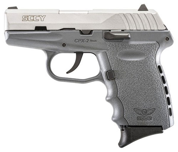 SCCY 9MM POLY GREY/SATIN DAO 2MAGS - for sale