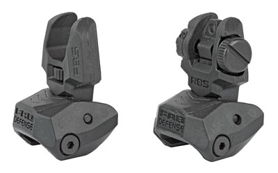 FAB DEF POLY FLIP-UP SIGHT SET BLK - for sale