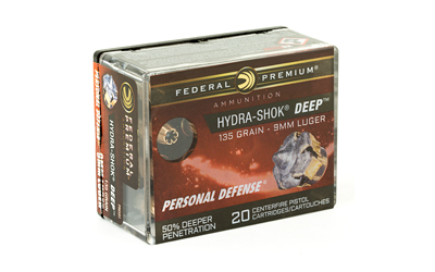 FED HYDRA-SHOK DEEP 9MM 135GR HP 20/ - for sale