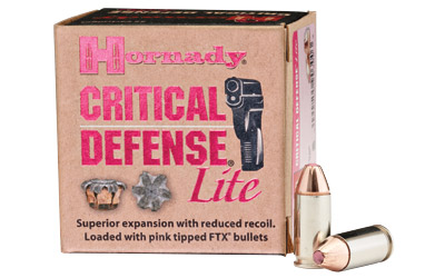 Hornady - Critical Defense Lite - 9mm Luger for sale