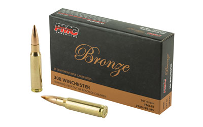 PMC BRNZ 308WIN 147GR FMJ 20/500 - for sale