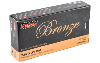 PMC BRNZ 7.62X39 123GR FMJ 20/500 - for sale