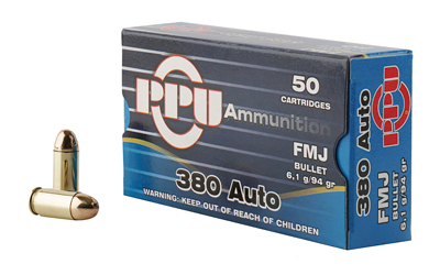 PPU 380ACP FMJ 94GR 50/1000 - for sale