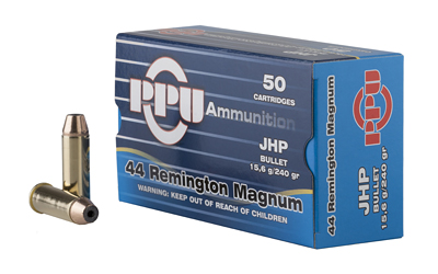 PPU 44MAG JHP 240GR 50/500 - for sale