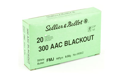S&B 300BLK 147GR FMJ 20/1000 - for sale