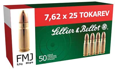S&B 7.62X25 85GR FMJ 50/1500 - for sale