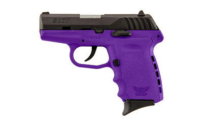SCCY 9MM POLY PURPLE/BLK DAO 2MAGS - for sale