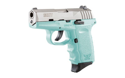 SCCY 9MM POLY AQUA/SATIN DAO 2MAGS - for sale
