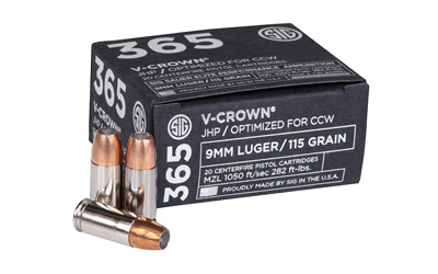 SIG AMMO 9MM 115GR JHP CCW 20/200 - for sale