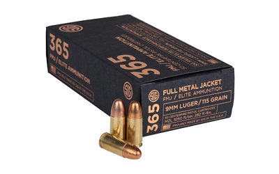 SIG AMMO 9MM 115GR FMJ 50/1000 - for sale