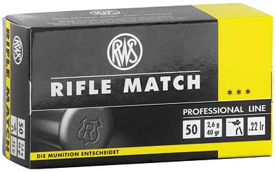 RWS 22LR RIFLE MATCH 40GR 50/5000 - for sale